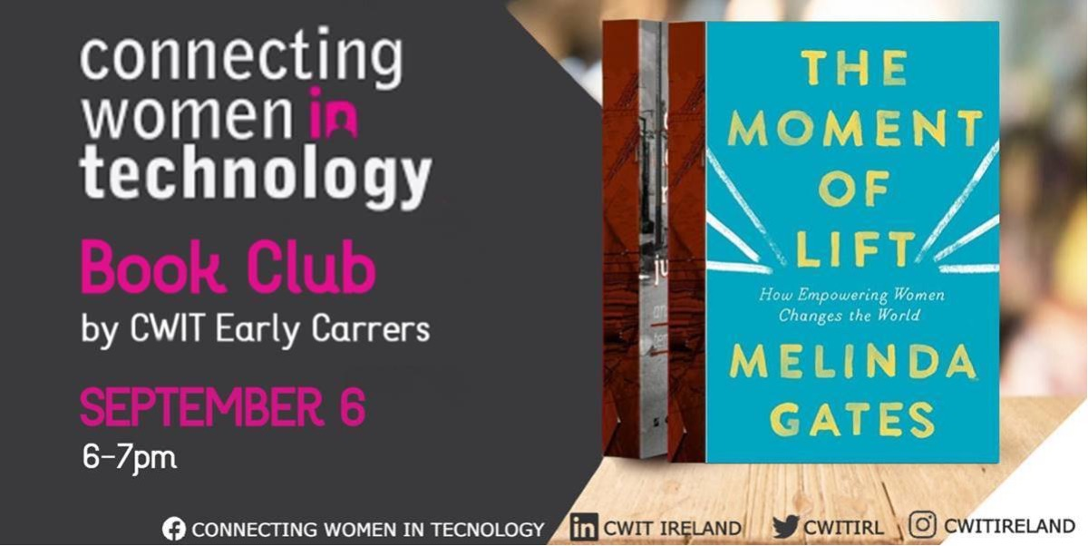 """September CWiT Book Club - """"Moment of Lift by Melinda Gates"""""""